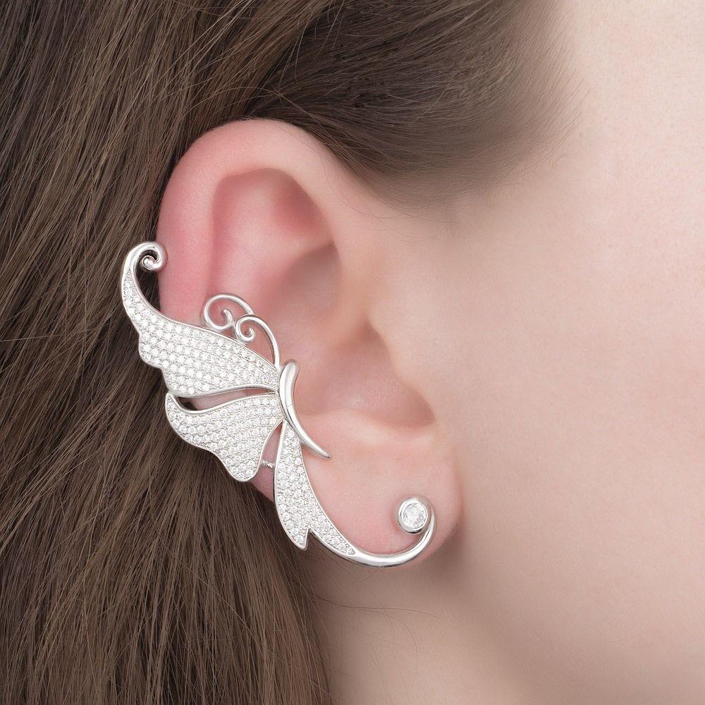 Каффы комплект на 2 уха из серебра